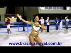 Art body paint Samba Rio Carnival Powerful Carnaval de Brazil