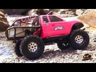 RC ADVENTURES - JEM & PiNKY Scale the River 4X4 Fun! SCX10 Honcho,