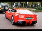 3x Ferrari 599 GTB: start-up, revvs, and accelerations + First F12 Berlinetta spotted in NL