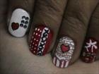 Magic nails- Cute and Flirty- very easy nail art for short nails- nail art tutorial- beginners