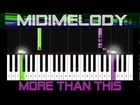 50% *EASY* MORE THAN THIS Beginner Piano Tutorial