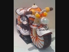 Harley Davidson motorcycle diaper cake, Baby shower gifts