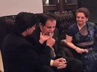 Shahrukh Khan feeds Dilip Kumar at Eid party