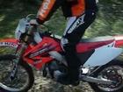 Premier tour de roue Honda HM CRE 125